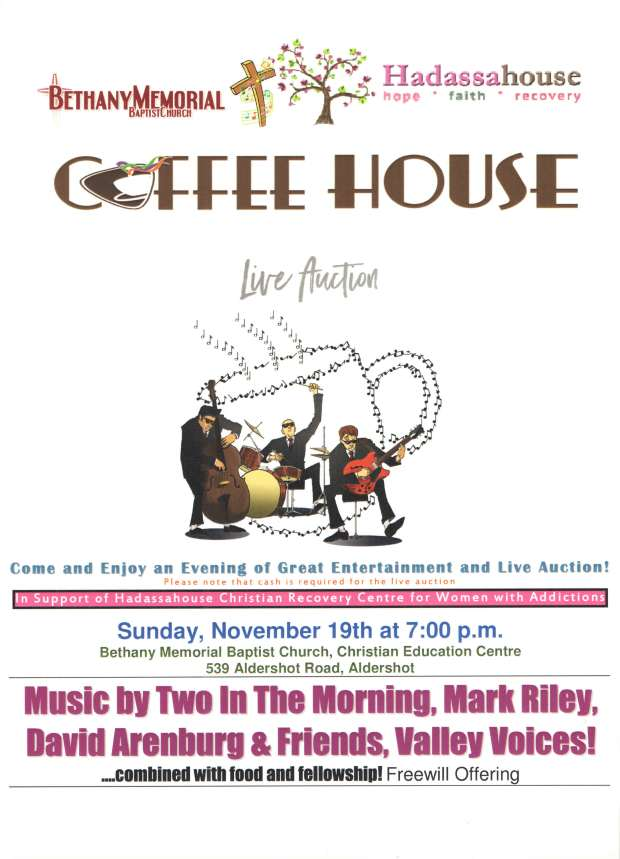 Coffee House Poster Nov. 19, 2017