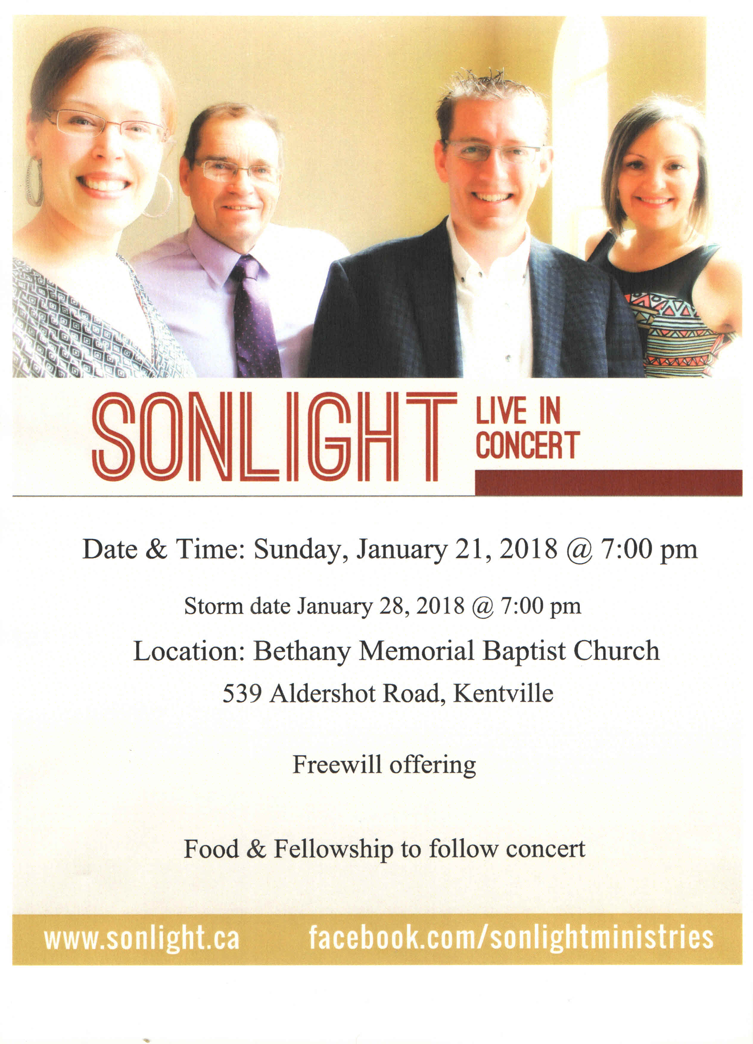 Sonlight Poster January 21, 2018