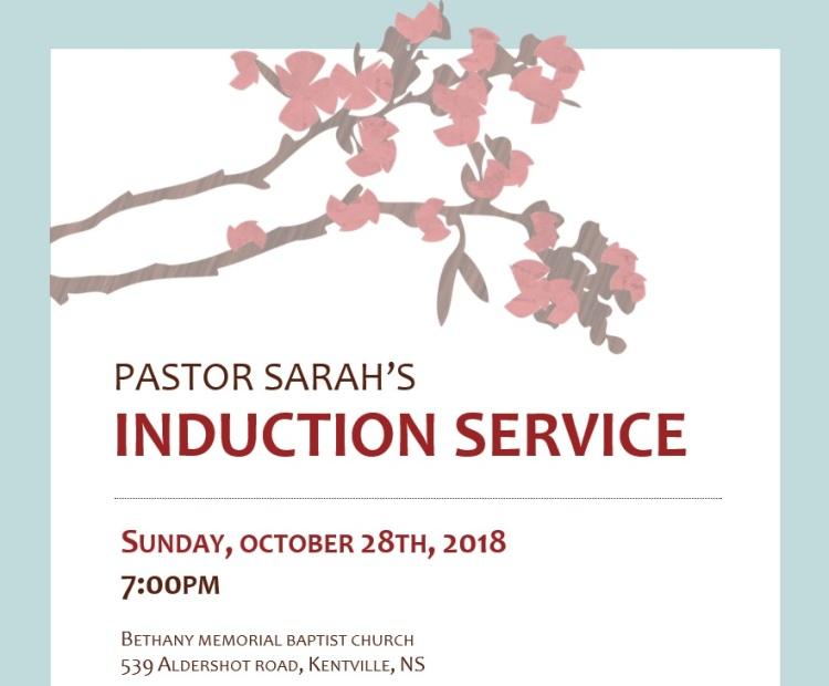 sarahs induction service